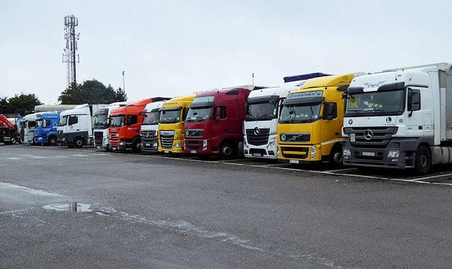 Parking dla samochodów ciężarowych