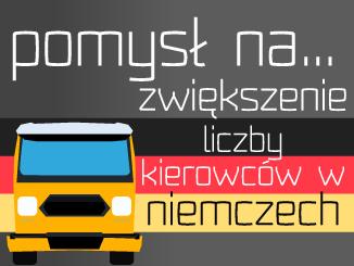 Pomysł na zwiększenie liczby kierowców w Niemczech