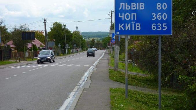 Ograniczenie prędkości na terenie zabudowanym na Ukrainie