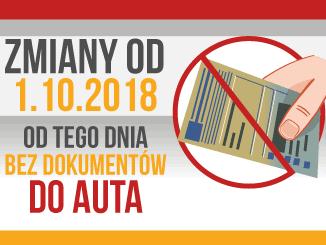 Jazda bez dokumentów od 1 października 2018